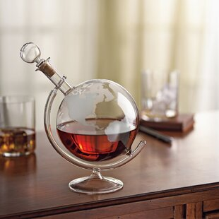 Etched Globe Spirits 35 Oz. Decanter