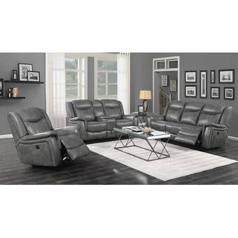 Red Barrel Studio Havilland 3 Piece Reclining Living Room Set Wayfair