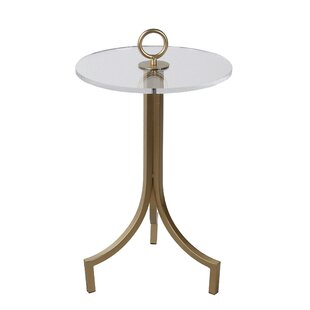 Galvan Iron and Acrylic End Table