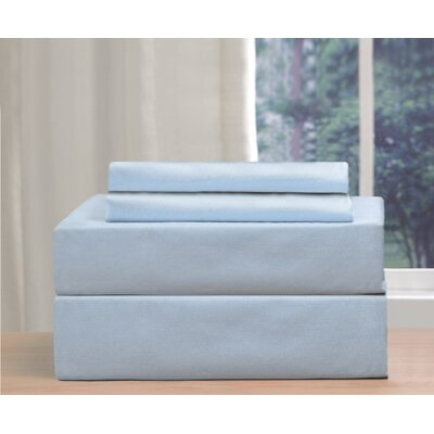 Alcott Hill Seamus 200 Thread Count Sheet Set Colour: Blue