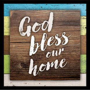 e88d63041f96  God Bless Our Home  Textual Art on Wood
