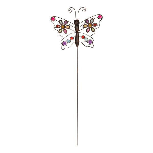 Elegant Glitzhome Iron Boho Beaded Butterfly Garden Stake U0026 Reviews | Wayfair
