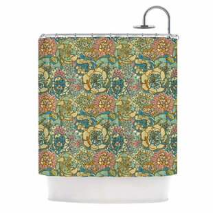 'Blooming Succulents' Single Shower Curtain