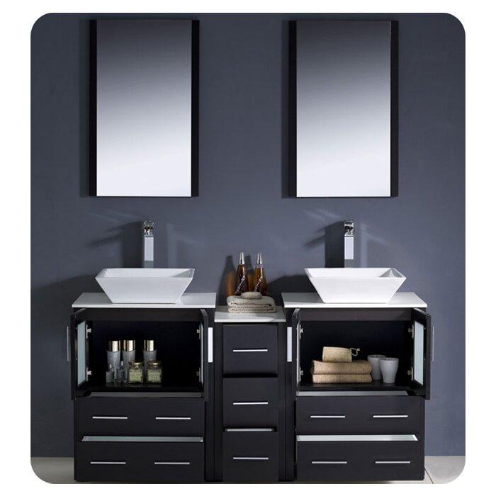 Torino 60 Double Bathroom Vanity Set With Mirror