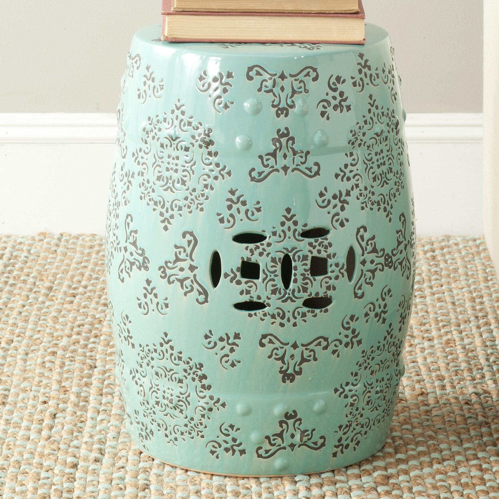 modish pagoda safavieh products garden store stool
