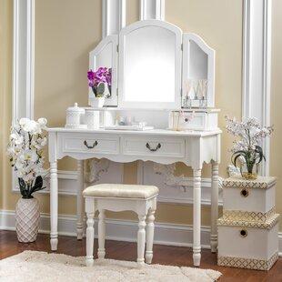 House of Hampton Rob Vanity Set with Mirror