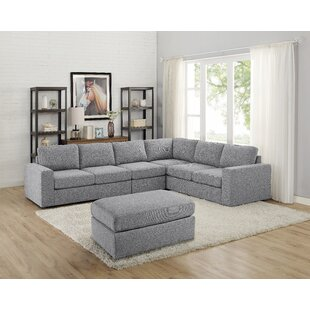 Cheryle Reversible Modular Sectional with Ottoman