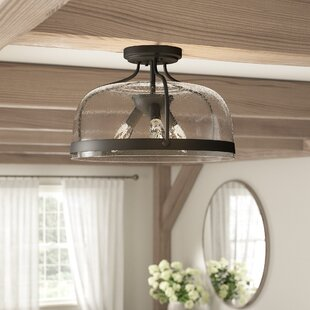 Lovelle 3-Light Semi Flush Mount by Gracie Oaks