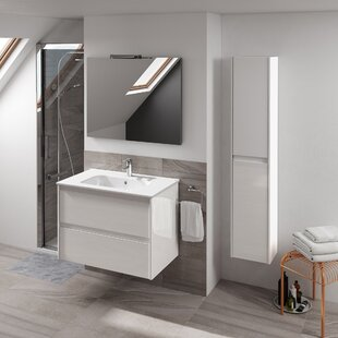 Ambra 32 Single Bathroom Vanity Set with Column and Mirror by WS Bath Collections