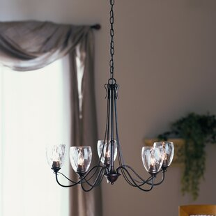 Hubbardton Forge Trellis 5-Light Shaded Chandelier