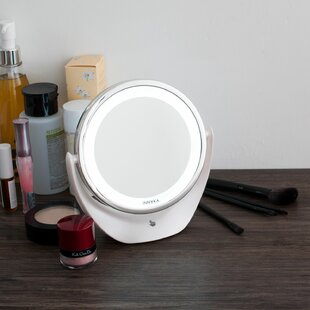 Compare prices Kelsie LED Adjustable Light Makeup Mirror By Symple Stuff