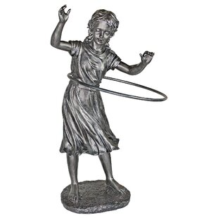 Design Toscano Harriet Hula Hooping Girl Garden Statue