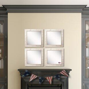 Affordable Vinson Tuscan Ivory Wall Mirror (Set of 4) ByOphelia & Co.