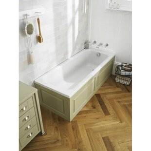 Ascott 170cm x 70cm Freestanding Soaking Bathtub by Hudson Reed
