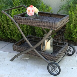 Ferndale Bar Serving Cart by Rosecliff Heights