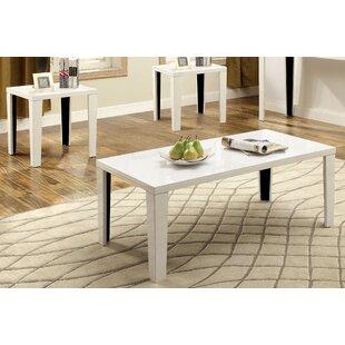 Latanya 3 Piece Coffee Table Set Hokku Designs