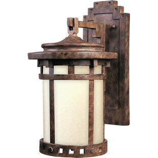 Comparison Pacific Grove 1-Light Outdoor Wall Lantern By Loon Peak