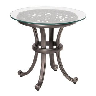 New Orleans Side Table with Glass Top (Set of 2)