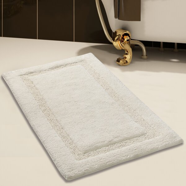 Alcott Hill Purifoy 100 Soft Rectangle Cotton Blend Striped Piece Bath Rug Set Reviews Wayfair