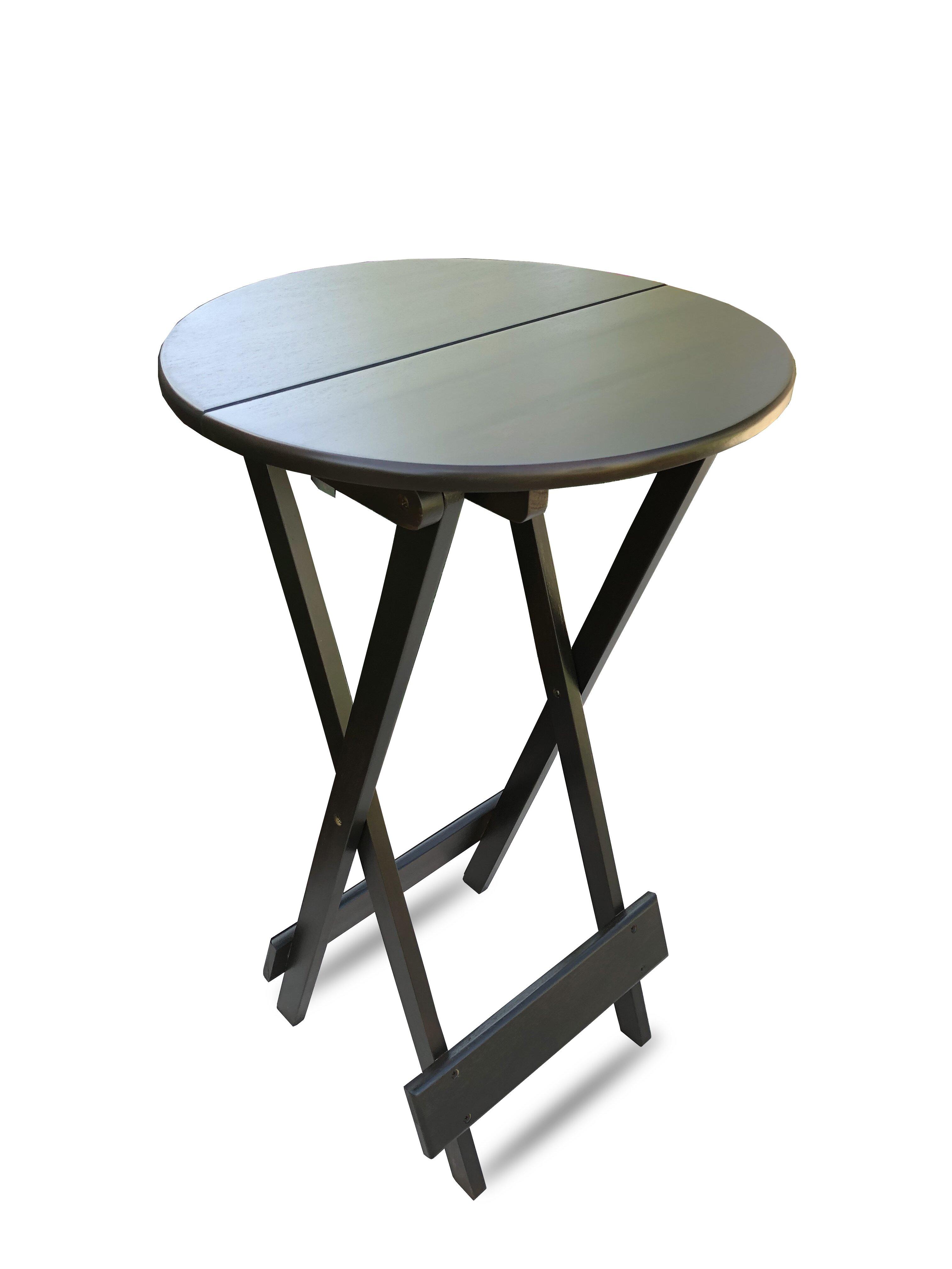 Primewaydecor bar height 215 circular folding table wayfair watchthetrailerfo