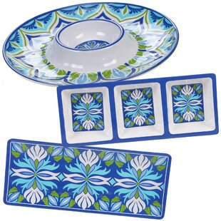 Hoehne 3 Piece Melamine Divided Serving Dish Set By Alcott Hill