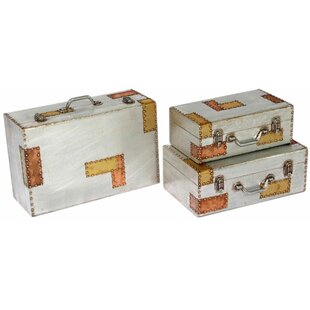 Aluminium And Copper 3 Piece Trunk Set