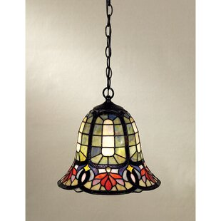 Compare prices Tadler 1-Light Bell Pendant By Astoria Grand