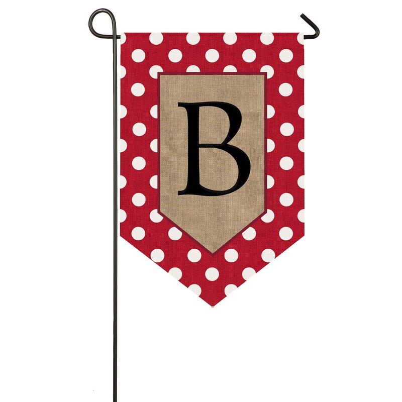 Red Barrel Studio Monogram 2 Sided Burlap 18 X 13 In Garden Flag Reviews Wayfair
