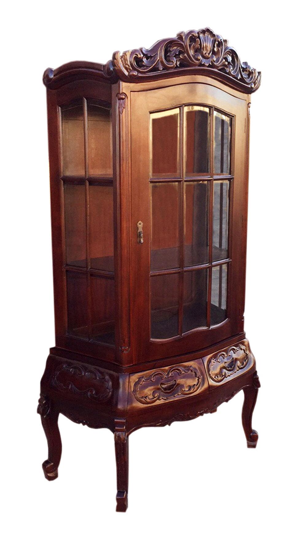 Astoria Grand Feltonville Curio Cabinet Wayfair