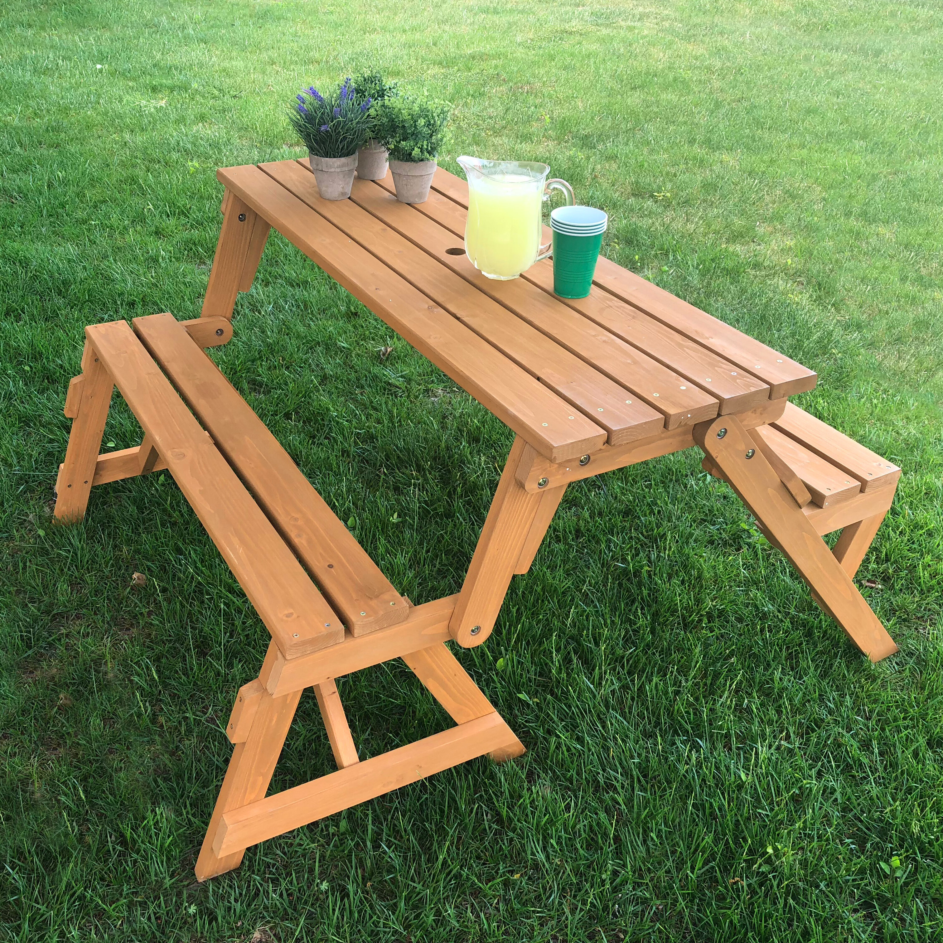- Freeport Park Broseley Folding Solid Wood Picnic Table & Reviews