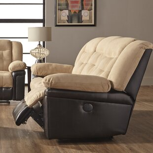 Waddells Leather Reclining Love seat