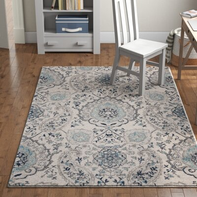 Katie Power Loom Polypropylene Creamlight Grey Indoor Area Rug