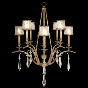 Monte Carlo 8-Light Shaded Chandelier by Fine Art Lamps