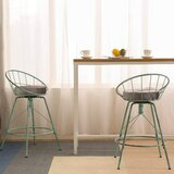Soileau Swivel 26 Counter Stool (Set of 2) by 17 Stories
