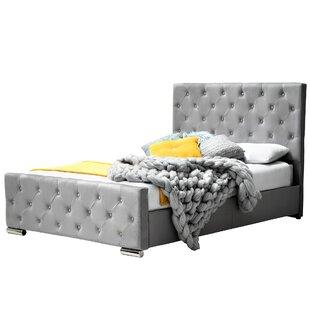 Review Flynn Upholstered Bed Frame