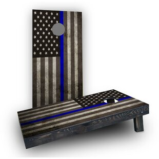 Custom Cornhole Boards American Thin Blue Line Cornhole Boards (Set of 2)