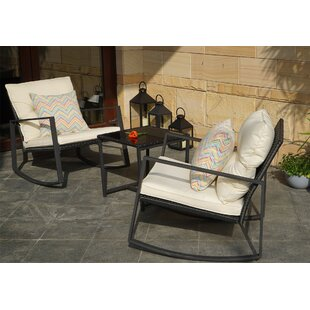 Kemmer 3 Piece Rocking Seating Group with Cushions