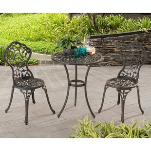 Today Sale Only Brockington 3 Piece Bistro Set  Charlton Home