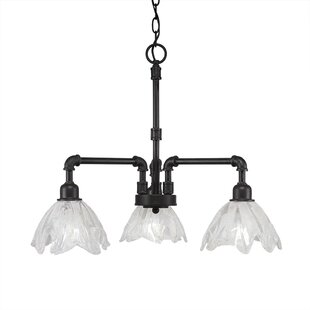 Red Barrel Studio Caire 3-Light Shaded Chandelier