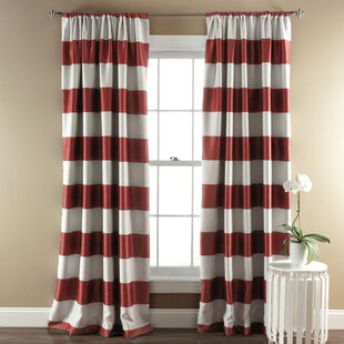 Red Striped Curtains & Drapes You\'ll Love   Wayfair
