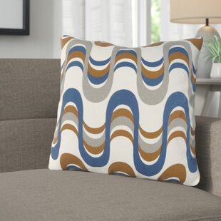 Arsdale Square Graphic Print Cotton Throw Pillow