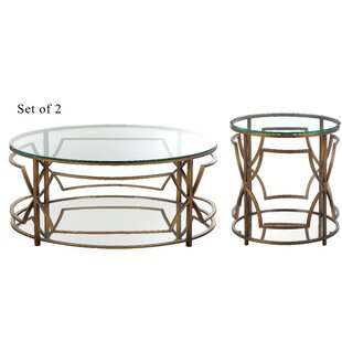 Willa Arlo Interiors George Living Room 2 Piece Coffee Table Set
