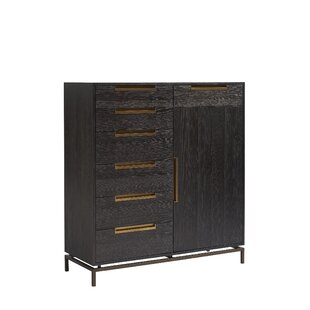 Brayden Studio Spinks Gable 7 Drawer Combo Dresser