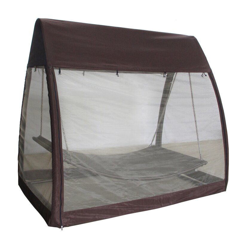 outdoor arched canopy cover hanging swing polyester hammock with stand abba patio outdoor arched canopy cover hanging swing polyester      rh   wayfair
