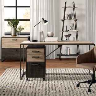 Edgerton Industrial 4 Piece Rectangular Desk Office Suite by Greyleigh