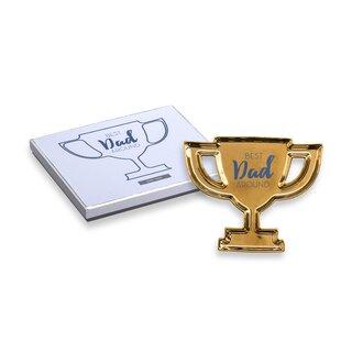 Best Reviews Trophy Best Dad Around Jewelry Tray By Rosanna