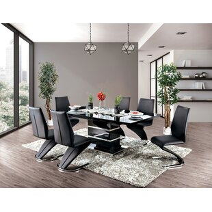 Meacham 7 Piece Extendable Dining Set Enitial Lab