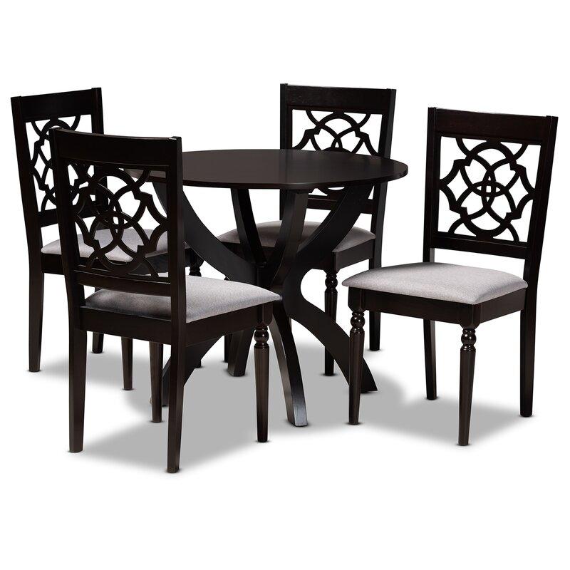Alcott Hill Sandifer 5 Piece Solid Oak Dining Set Wayfair