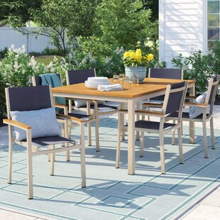 Caspian 7 Piece Dining Set with Leg End Caps