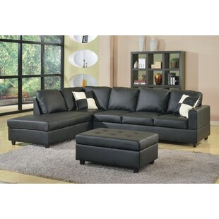 Bateman Reversible Sectional with Ottoman